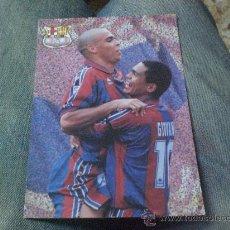 Coleccionismo deportivo: POSTAL DE RONALDO LUIZ NAZARIO DA LIMA, GIOVANNI SILVA F C BARCELONA BARÇA ( MUY RARA ). Lote 27544080