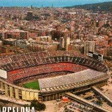 Coleccionismo deportivo: BARCELONA Nº 505 ESTADI FUTBOL CLUB BARCELONA NOU CAMP AÉREA ESCRITA SIN CIRCULAR ESCUDO DE ORO. Lote 25653312