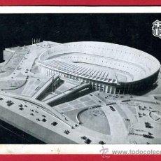 Coleccionismo deportivo: POSTAL CAMPO DE FUTBOL , ESTADIO DEL BARCELONA 1954 , MAQUETA , P60634. Lote 26015978