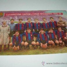 Coleccionismo deportivo: RARA Y BONITA POSTAL...C.F. BARCELONA...1948 - 49.. Lote 27600270