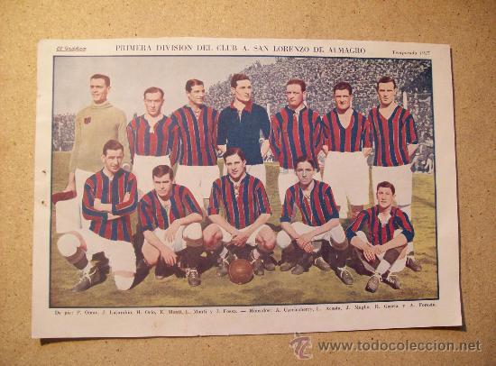 1927 FOOTBALL FUTBOL ARGENTINA - SAN LORENZO DE ALMAGRO - ROBERT BENOIST (Coleccionismo Deportivo - Postales de Deportes - Fútbol)