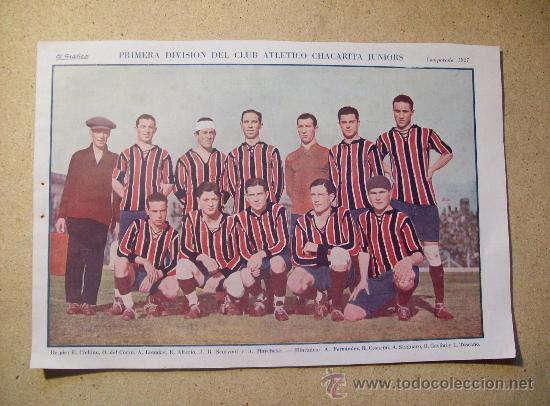 1927 FOOTBALL FUTBOL ARGENTINA - CLUB CHACARITA JUNIORS - BETTY NUTHALL (Coleccionismo Deportivo - Postales de Deportes - Fútbol)