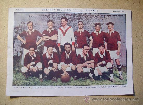 1927 FOOTBALL FUTBOL ARGENTINA - CLUB LANUS - JULIO MOCOROA (Coleccionismo Deportivo - Postales de Deportes - Fútbol)