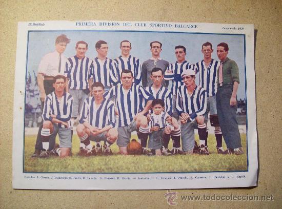 1926 FOOTBALL FUTBOL ARGENTINA - CLUB SPORTIVO BALCARCE (Coleccionismo Deportivo - Postales de Deportes - Fútbol)