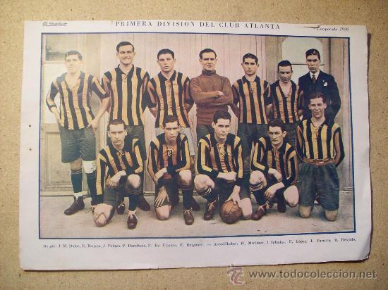 1926 FOOTBALL FUTBOL ARGENTINA - CLUB ATLANTA (Coleccionismo Deportivo - Postales de Deportes - Fútbol)