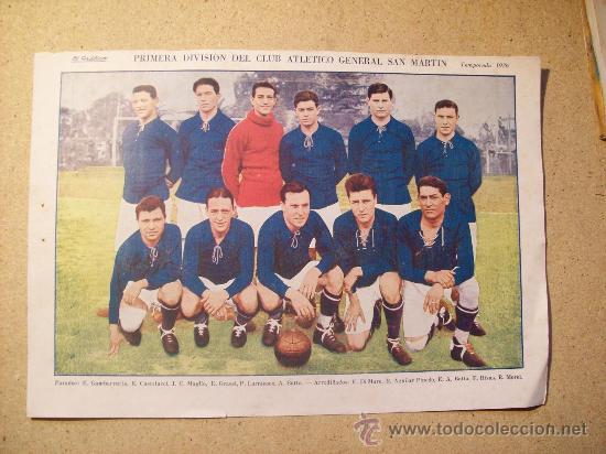 1926 FOOTBALL FUTBOL ARGENTINA - CLUB GENERAL SAN MARTIN (Coleccionismo Deportivo - Postales de Deportes - Fútbol)