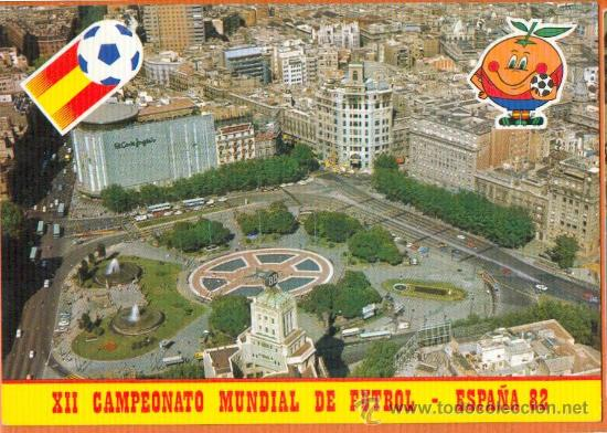 MUNDIAL 82 - PLAZA CATALUÑA Nº 12 - BARCELONA - NARANJITO - COLECCIÓN PERLA (Coleccionismo Deportivo - Postales de Deportes - Fútbol)