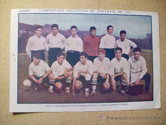 1927 FOOTBALL FUTBOL ARGENTINA - TEAM SANTIAGO DEL ESTERO. DIEUDONNE COSTES (Coleccionismo Deportivo - Postales de Deportes - Fútbol)