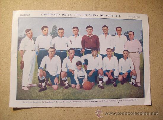 1927 FOOTBALL FUTBOL ARGENTINA - LIGA DE ROSARIO. JOE STECHER (Coleccionismo Deportivo - Postales de Deportes - Fútbol)