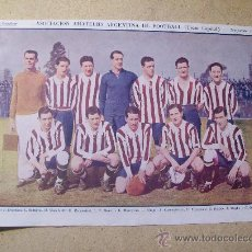 Coleccionismo deportivo: 1927 FOOTBALL FUTBOL ARGENTINA - AMATEURS. HELEN JACOBS. Lote 26693826