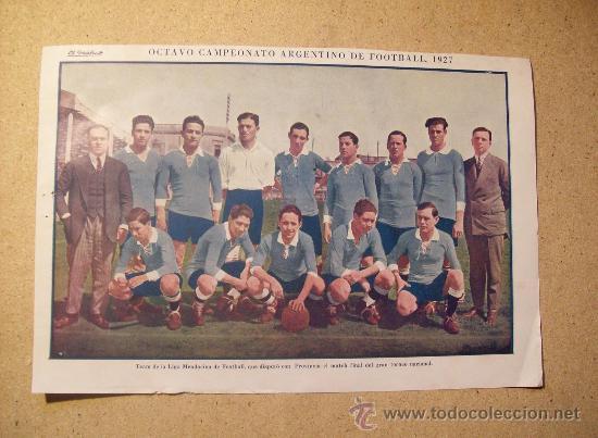 1927 FOOTBALL FUTBOL ARGENTINA - LIGA DE MENDOZA. GEORGE DUNCAN (Coleccionismo Deportivo - Postales de Deportes - Fútbol)
