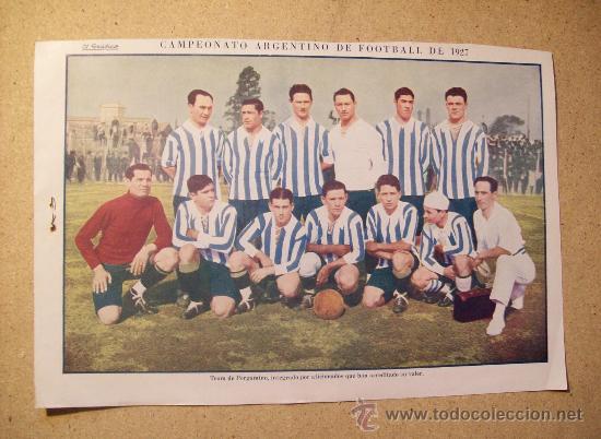 1927 FOOTBALL FUTBOL ARGENTINA - TEAM PERGAMINO. W.J. BAILEY (Coleccionismo Deportivo - Postales de Deportes - Fútbol)