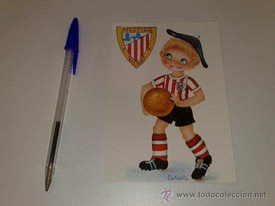ANTIGUA POSTAL DEL AT. BILBAO. AÑOS 70. ENVIO ORDINARIO GRATIS (Coleccionismo Deportivo - Postales de Deportes - Fútbol)