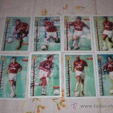 Coleccionismo deportivo: LOTE DE 8 POSTALES DE JUGADORES DEL AC MILAN (ITALIA). Lote 26899535