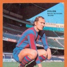 Coleccionismo deportivo: POSTAL AUTOGRAFO IMPRESO - MARCIAL PINA - FUTBOL CLUB BARCELONA - FOTO SEGUÍ - ED. BERGAS AÑO 1975. Lote 27327035
