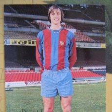 Collezionismo sportivo: POSTAL DE JOHAN CRUYFF NUEVA BARÇA FC BARCELONA CF F.C FIMADA IMPRESA FOTO SEGUI VER FOTO . Lote 27717412