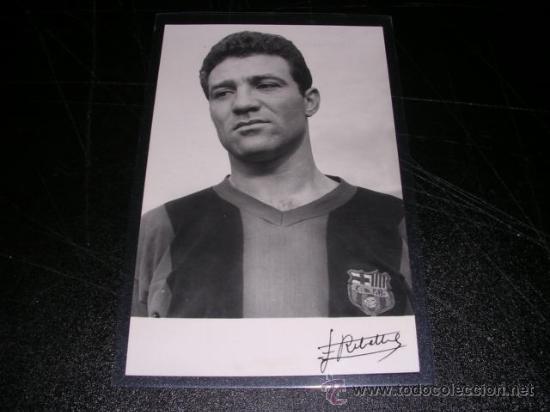 FC BARCELONA RIBELLES - POSTAL FOTOGRAFICA DE UN JUGADOR DEL CF BARCELONA 1958, (Coleccionismo Deportivo - Postales de Deportes - Fútbol)