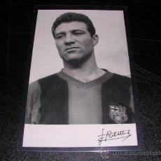 Coleccionismo deportivo: FC BARCELONA RIBELLES - POSTAL FOTOGRAFICA DE UN JUGADOR DEL CF BARCELONA 1958, . Lote 28097958
