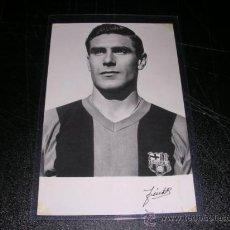 Coleccionismo deportivo: FC BARCELONA PINTO - POSTAL FOTOGRAFICA DE UN JUGADOR DEL CF BARCELONA 1958, . Lote 28097975