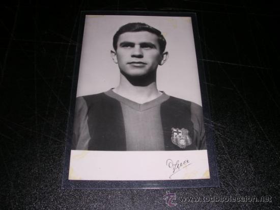 FC BARCELONA - POSTAL FOTOGRAFICA DE UN JUGADOR DEL CF BARCELONA 1958, (Coleccionismo Deportivo - Postales de Deportes - Fútbol)
