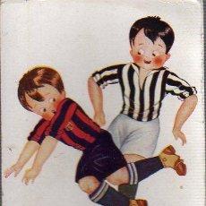 Coleccionismo deportivo: POSTAL EDICIONES VICTORIA FUTBOL - FOOT-BALL HERTOGS BARÇA Y GIMMASTICA ZANCADILLA Nº 1079. Lote 28124066