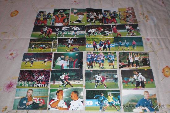 LOTE 25 POSTALES DE JUGADORES INGLESES (DIVERSAS TOMAS). VER RELACIÓN. (Coleccionismo Deportivo - Postales de Deportes - Fútbol)