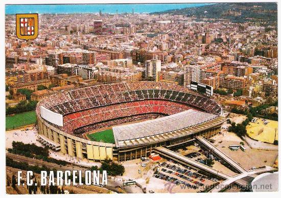 POSTAL DEL CAMP NOU (Coleccionismo Deportivo - Postales de Deportes - Fútbol)