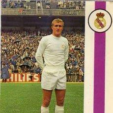 Coleccionismo deportivo: POSTAL JUGADOR DE FUTBOL DEL REAL MADRID. BERGAS. FOTO RAUL CANCIO. FRANCISCO BALLESTER ENGUIX.. Lote 29159636