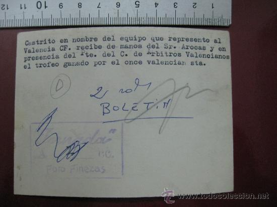 Coleccionismo deportivo: FOTO FUTBOL - VALENCIA C.F. CONTRA - AÑOS 1950-60 - Foto 2 - 30253163