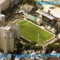 Coleccionismo deportivo: CAMPO DE FÚTBOL - FERROCARRIL OESTE - ARGENTINA - ESTADIO ETCHEVERRY - NUEVA SIN CIRCULAR . Lote 30415122