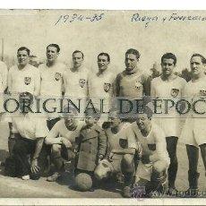 Coleccionismo deportivo: (F-432)POSTAL FOTOGRAFICA DEL EQUIPO FOOT-BALL RIEGOS Y FUERZAS DEL EBRO 1934-35. Lote 30864871