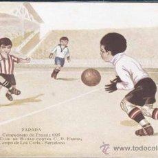 Coleccionismo deportivo: PARADA- CAMPEONATO DE ESPAÑA 1923- ATLETIC CLUB DE BILBAO CONTRA C.D. EUROPA- CAMPO DE LAS CORTS-BAR. Lote 30870132