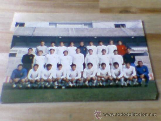 POSTAL PLANTILLA REAL MADRID LIGA 71 72 SIN CIRCULAR (Coleccionismo Deportivo - Postales de Deportes - Fútbol)