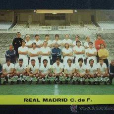 Coleccionismo deportivo: POSTAL REAL MADRID AÑOS 70 PLANTILLA ALINEACIÓN. Lote 31867245