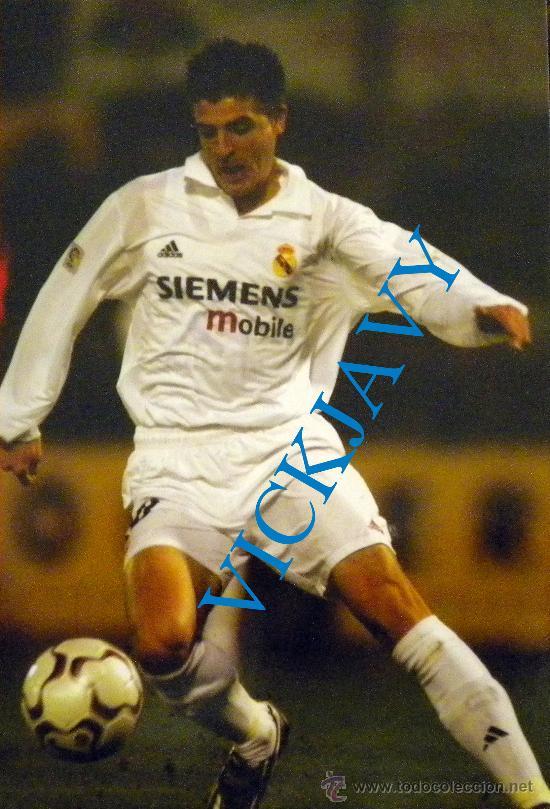 CROMO POSTAL FOTO PORTILLO 47 MAGIC BOX INT. PRODUCTO OFICIAL REAL MADRID (Coleccionismo Deportivo - Postales de Deportes - Fútbol)