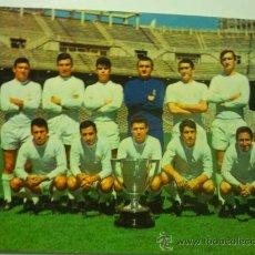 Coleccionismo deportivo: POSTAL EQUIPO REAL MADRID C.F.CAMPEON LIGA 196-67 POSTAL DE EPOCA. Lote 33046242