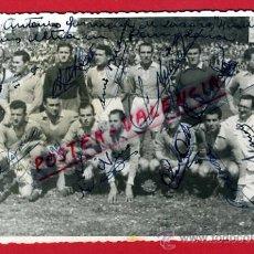 Coleccionismo deportivo: POSTAL FUTBOL, FOTO PLANTILLA EQUIPO PLUS ULTRA EN PAMPLONA CON AUTOGRAFOS , ORIGINAL, P71421. Lote 33368334