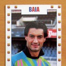 Coleccionismo deportivo: FÚTBOL CLUB BARCELONA - VITOR BAIA - FOTO POSTAL TAMAÑO 16X11. Lote 33500339