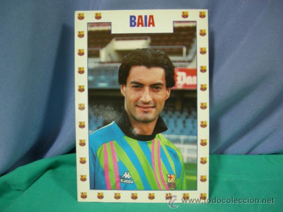 TARJETA POSTAL DEL F.C. BARCELONA FUTBOL JUGADOR BAIA - FOTO SEGUI (Coleccionismo Deportivo - Postales de Deportes - Fútbol)