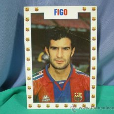 Coleccionismo deportivo: TARJETA POSTAL DEL F.C. BARCELONA FUTBOL JUGADOR FIGO - FOTO SEGUI. Lote 33940184