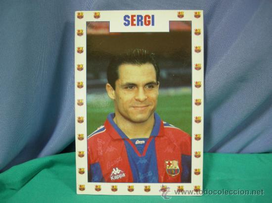 TARJETA POSTAL DEL F.C. BARCELONA FUTBOL JUGADOR SERGI - FOTO SEGUI (Coleccionismo Deportivo - Postales de Deportes - Fútbol)