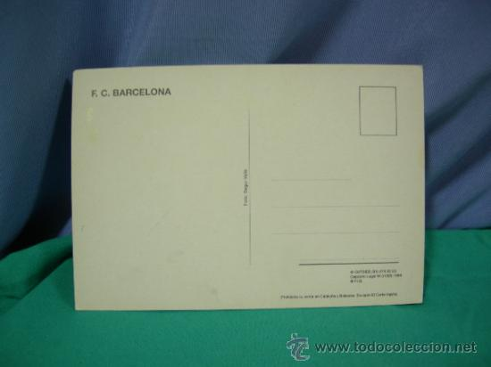 Coleccionismo deportivo: TARJETA POSTAL DEL F.C. BARCELONA FUTBOL JUGADOR FIGO - FOTO SEGUI - Foto 2 - 33940184