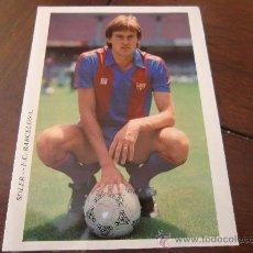 Coleccionismo deportivo: POSTAL F C BARCELONA MIQUEL SOLER BARÇA AÑOS 80 RARA. Lote 34050053