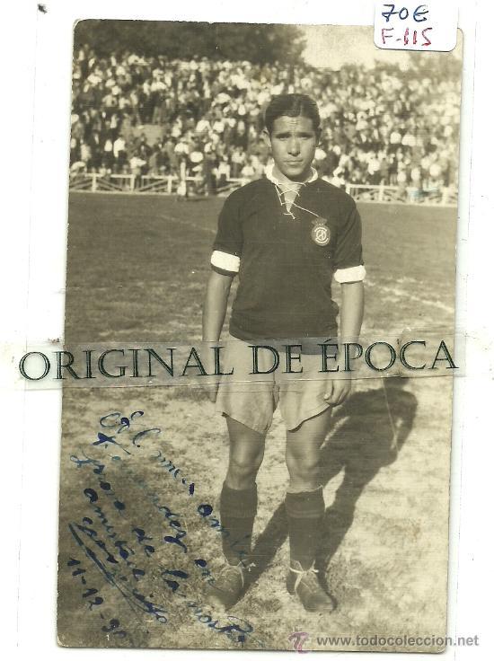 (F-115)POSTAL FOTOGRAFICA DEDICADA DE ALFONSO BONILLO C.D.ZARAGOZA AÑOS 30 (Coleccionismo Deportivo - Postales de Deportes - Fútbol)