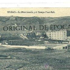 Coleccionismo deportivo: (PS-30634)POSTAL DE BILBAO-LA MISERICORDIA Y EL CAMPO DE FOOT-BALL. Lote 35539771