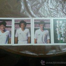 Coleccionismo deportivo: LOTE DE 4 POSTALES DE FUTBOL DEL REAL MADRID. Lote 36386453