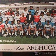 Coleccionismo deportivo: REAL ZARAGOZA, 1986, CORTESIA DE RON AREHUCAS. Lote 36637588