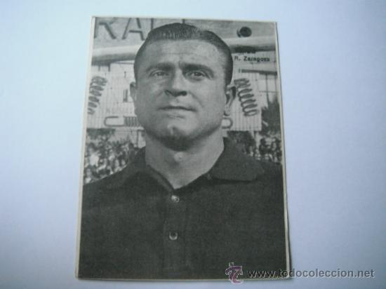 FOTO BLANCO Y NEGRO EN PAPEL DE YARZA/CANARIO (REAL ZARAGOZA). AÑOS 60´. (Coleccionismo Deportivo - Postales de Deportes - Fútbol)