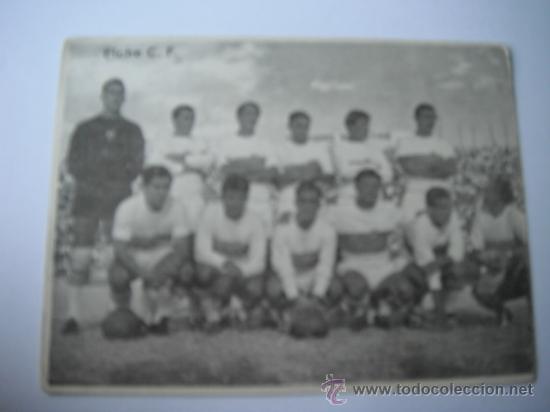 FOTO BLANCO Y NEGRO EN PAPEL DE ALINEACION ELCHE/PONTEVEDRA. AÑOS 60´. (Coleccionismo Deportivo - Postales de Deportes - Fútbol)