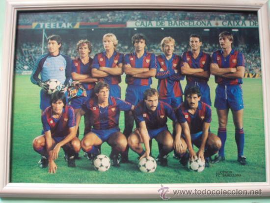 ANTIGUO CUADRO DE LOS JUGADORES DEL F.C.BARCELONA (Coleccionismo Deportivo - Postales de Deportes - Fútbol)